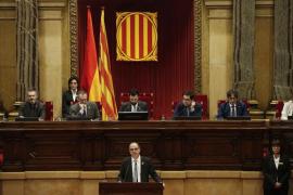Turull ofrece diálogo al Estado y evita referencias a la república catalana