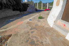 El molí des Porxet sufre pintadas hechas con espray a manos de unos desconocidos