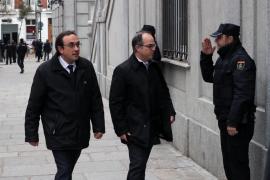 Turull y otros inculpados llegan al Supremo a la espera de medidas cautelares