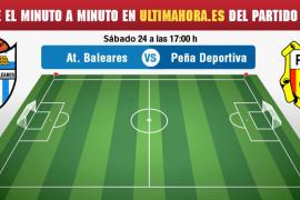 Atlético Baleares-Peña Deportiva, en directo