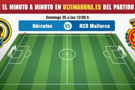 Hércules-Real Mallorca, en directo