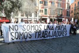 La protesta de los trabajadores de Megapark vuelve a Cort