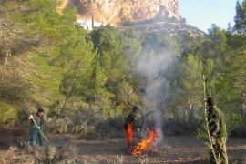 Este sábado no estará permitido hacer fuego en Baleares por fuerte viento