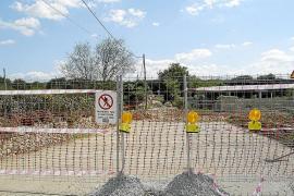 Las obras de construcción de la variante de Llubí se encuentran paralizadas desde el jueves