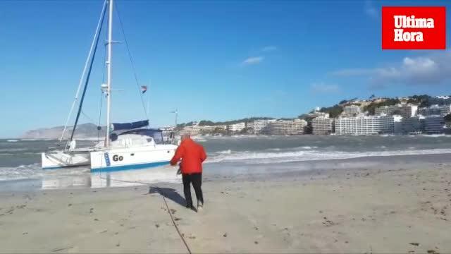 El viento causa estragos en Mallorca