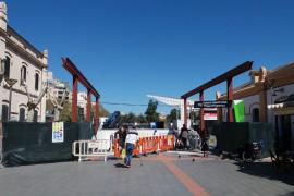 Las obras de la cubierta del acceso a la Estación Intermodal de Palma finalizarán a principios de junio