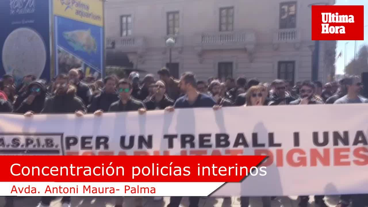 Sonora concentración de policías interinos en Palma