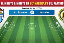 Atlético Baleares-Hércules, en directo