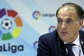 Tebas: «Tendría que aplicarse el 155 en el Wanda Metropolitano para evitar la pitada en la final de Copa»