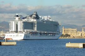 Los puertos de Baleares registran un 166,5 % más de cruceristas hasta febrero