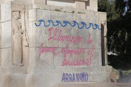 Arran Palma reivindica una pintada en el monolito de sa Feixina