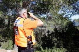 Operativo de búsqueda del hombre desaparecido en Santa Eulària