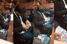 'Cazan' a dos diputados brasileños intercambiando cromos del Mundial en plena Asamblea