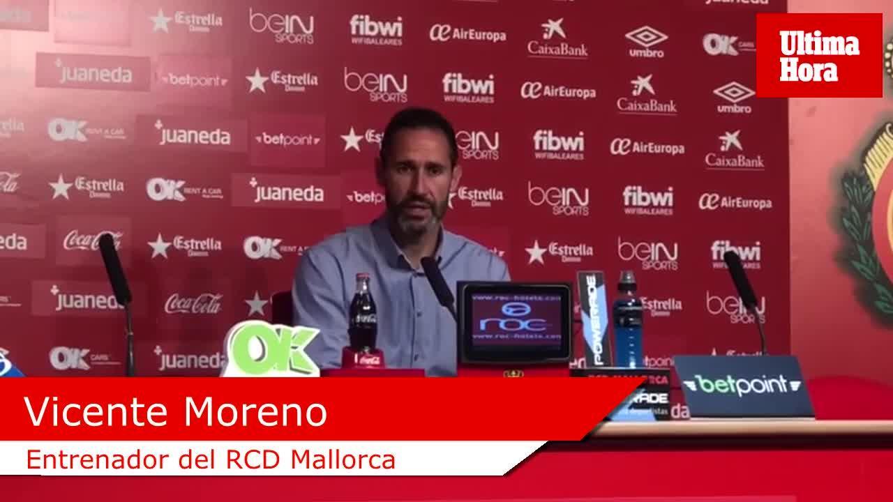 Vicente Moreno: «Si jugamos el domingo como hemos entrenado estaremos cerca de ganar»