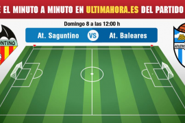 Atlético Saguntino-Atlético Baleares, en directo