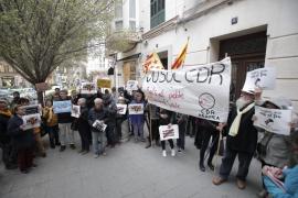 Unas 50 personas exigen en Palma la libertad de la miembro de CDR detenida