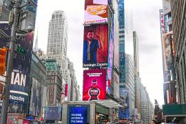 El artista mallorquín Domingo Zapata 'conquista' las pantallas de Times Square