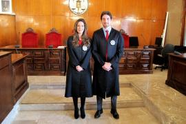 Dos jueces con destino en Baleares juran su cargo ante la Sala de Gobierno del Tribunal Superior