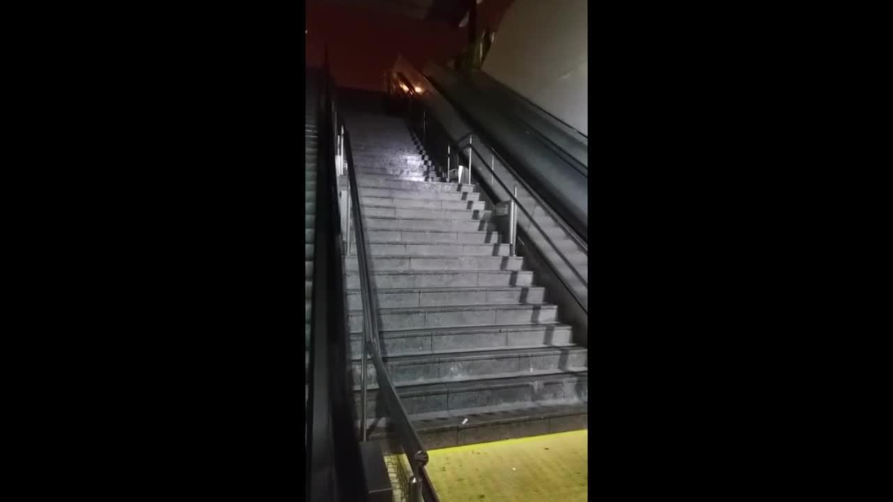 Inundación en la Intermodal de Palma tras las últimas lluvias