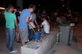 La policía reforzará este fin de semana la vigilancia a los 'micro botellones'  en Palma