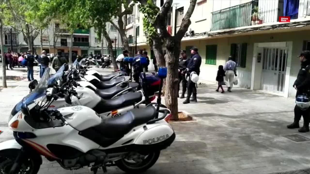 Al menos 10 detenidos en una redada en Son Gotleu contra el tráfico de drogas