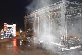 Un incendio destruye un remolque aparcado en el polígono de Son Castelló
