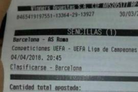 El dineral que perdió un apostante por la eliminación del Barça