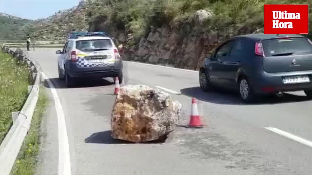 Desprendimiento en la carretera Andratx-Estellencs
