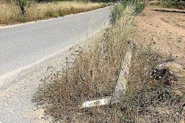 Denuncian el estado de «abandono» de los postes de las rutas BTT