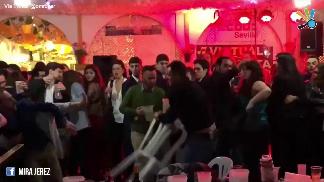CCOO da explicaciones por la salvaje trifulca en su caseta de la Feria de Abril