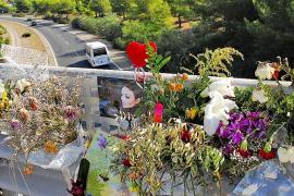 Altar por la mujer que cayó del puente de la Costa d'en Blanes