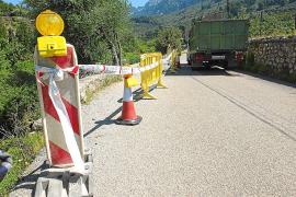 Preocupación por el mal estado de un tramo de la carretera de Fornalutx