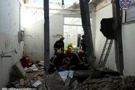 Herido leve un trabajador al derrumbarse el techo de una casa en obras en Caimari