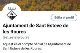 Humor independentista con Sant Esteve de les Roures