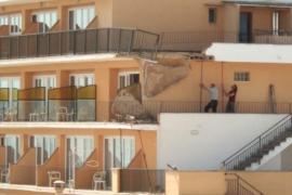 Derrumbe de un balcón en un hotel de s´Arenal