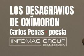 Carlos Penas celebra Sant Jordi en tres librerías distintas con su libro de poemas 'Los desagravios de Oxímoron'