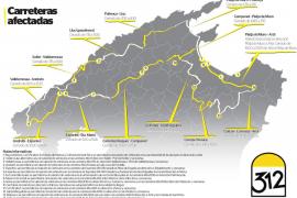 Cortes de carretera este sábado en 30 pueblos por la carrera ciclista Mallorca 312