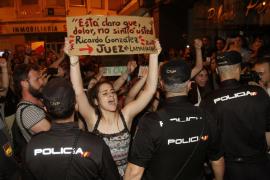 Detenido por agredir a un agente en la protesta por la sentencia de 'La Manada'