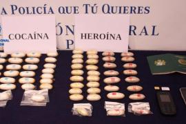 Detenido un hombre en el aeropuerto de Palma con 62 'dátiles' de cocaína y heroína en su interior