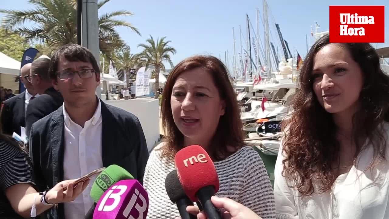 Armengol inaugura el 'International Boat Show' y lo califica de «emblemático»