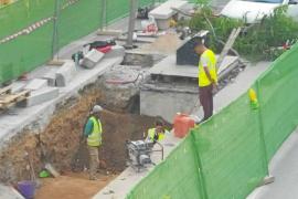 Hallan restos arqueológicos en las obras de los contenedores de Avenida España