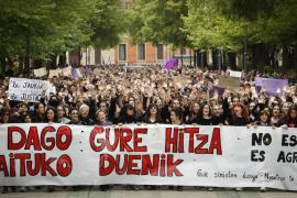 Nueva protesta en Pamplona en rechazo a la sentencia a 'La Manada', «no es abuso, es violación»
