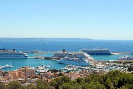 Los cruceros, un negocio para todo el centro de Palma