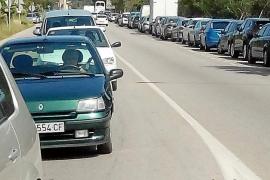 El tráfico aumenta de forma alarmante en Sóller, ahora ya a diario
