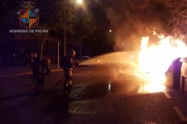 Vuelven los incendios de contenedores en la noche de Palma