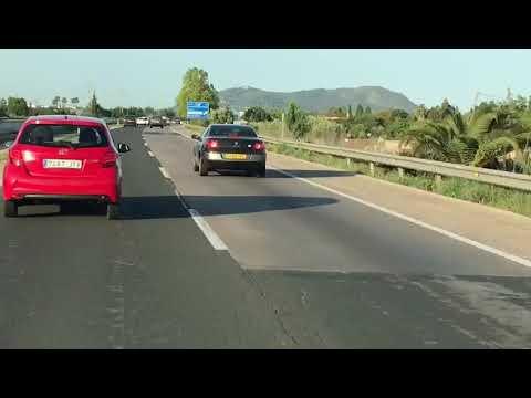 Conducción temeraria en la autopista de Inca