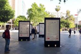 La exposición de portadas de Ultima Hora, ahora en la Plaza de España