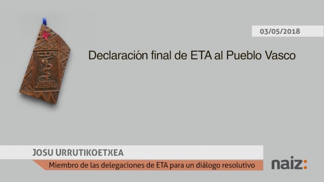 ETA anuncia el fin oficial de su «trayectoria»