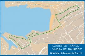 Varias calles de Santa Ponça permanecerán cerradas este domingo por la II Carrera de Bomberos de Mallorca