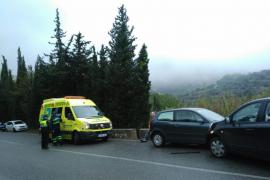 Un conductor ebrio provoca un accidente en la carretera de Valldemossa